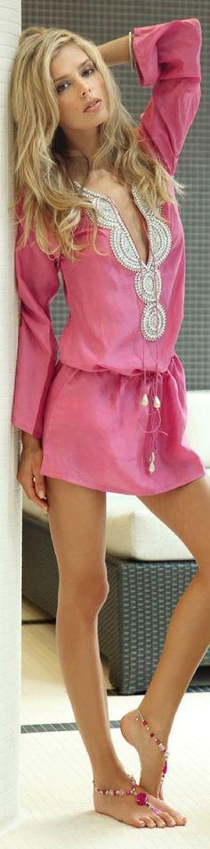ZeugarI pink cover up