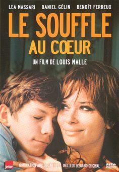 """""""Le Souffle Au Coeur"""" - Louis Malle(1971) avec Léa Massari, Benoît Ferreux, Daniel Gelin, Michael Lonsdale. Le film,à sa sortie avait provoqué un scandale car il évoquait les relations incestueuses entre une femme et son fils."""