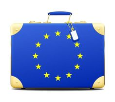 Europe = always with you. European Union flag on a bag