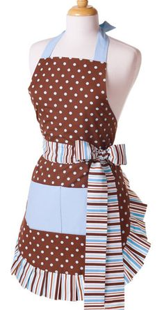 I love Flirty Aprons. I am so excited to let you know that they are having a 1 day FLASH SALE – only. You can get this Blue Chocolate Apron for Flirty Aprons, Cute Aprons, Retro Apron, Aprons Vintage, Apron Tutorial, Blue Chocolate, Making Chocolate, Sewing Aprons, Kitchen Aprons