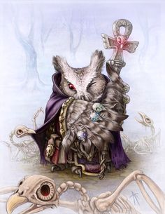 """Owl necromancer"" by Napluvayka"