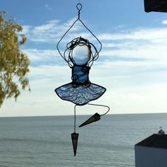 Stained Glass Ballerina Blue Ballerina Suncatcher Stained