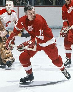 Alex Delvecchio - 24 seasons and 1550 games with the Red Wings and their captain for 12 years!