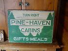 Pine Haven Cabins Adirondack Pine Trees Camp Cabin Primitive Wood Sign Jerred items in Countrybuzzins store on eBay!