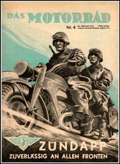 Zündapp (a.k.a. Zuendapp) was a major German motorcycle manufacturer in Nuremberg, Germany 1917-1984.