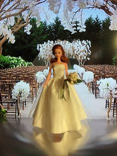 A personal favorite from my Etsy shop https://www.etsy.com/listing/251536962/ooak-barbie-bride-barbie-doll-wedding