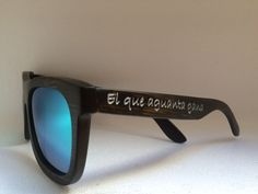 Gafas de sol de bambú #soniapew personalizadas lente polarizada-espejada  Mod. Bamboo Elite Tostada ice blue