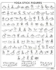 Sticky asanas - Yoga Stick Figures