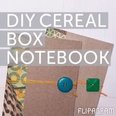 Repurpose: Cereal boxes into notebooks! The New School, New School Year, Cereal Boxes, Green Life, Scrapbooks, Notebooks, Repurposed, Classroom, Teacher