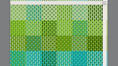 Turned taquete weaving draft
