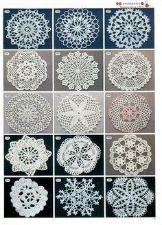Lot's of beautiful crochet doilies: FREE crochet diagrams