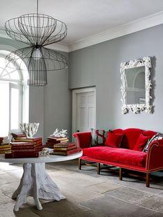 warm sage green living room with rusty orange see website. Black Bedroom Furniture Sets. Home Design Ideas