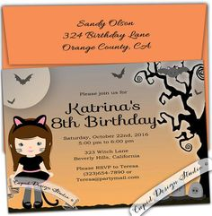 Halloween costume trick or treat Birthday Party by CupidDesigns