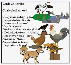 Poradnik-Logopedyczny.pl :: Interdyscyplinarny serwis logopedyczny :: Creative Activities, Kids And Parenting, Montessori, Kindergarten, Poems, Teaching, Education, Baby, Animals