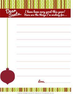 Dear Santa #Christmas Wish List FREE Printable at TidyMom.net