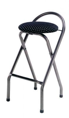 Folding Bar Stool Metal Frame And Padded Stool £57.60