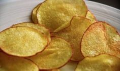 You Too Can Make These Crispy Potato Chips - It's Easier Than You Think! - Page 2 of 2 - Recipe Roost Potatoes In Microwave, Crispy Potatoes, Patatas Chips, Recipe Roost, A Food, Food And Drink, Potato Crisps, Savoury Baking, Evening Meals