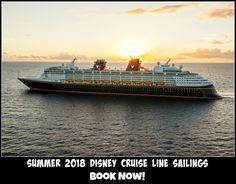 Summer 2018 Disney Cruise Line sails to Alaska, Norway, Iceland, Italy the Caribbean & more. Save with onboard credits from The Magic For Less Travel
