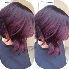 violet red tones