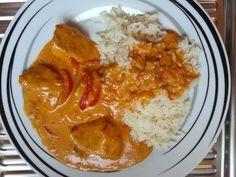 Thermomix TM 31 Paprika-Sahnehähnchen mit Reis