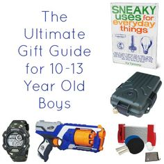A huge list of gift ideas for 10-13 year old boys. Something for every type of interest in here!
