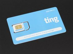 GSM 2G SIM Card from Ting & Adafruit - Data/Voice/Text Multisize