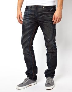 44f98da5 Shop Diesel Jeans Shioner Slim Fit Colour Mutation Dark Wash at ASOS.