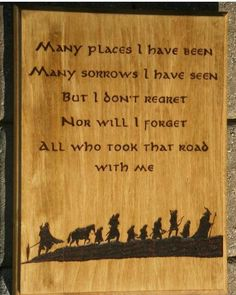 Lord of the Rings Fellowship of the Ring The Last Goodbye Wood Burned Plaque, Lord of the Rings Decor, JRR Tolkien, Nerd Decor Lord of the Rings Fellowship of the Ring The Last by HopeandHaven Tolkien Quotes, Book Quotes, Journey Quotes, Fellowship Of The Ring, Lord Of The Rings, The Last Goodbye, Nerd Decor, Jm Barrie, O Hobbit