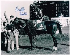 Ronnie Franklin (on 1979 Triple Crown winner Spectacular Bid at Kentucky Derby, Churchill Downs) Authentic Signed 8x10 Autograph Photo - Ver...
