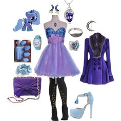 """Princess Luna Outfit"" gotta love my little pony :) My Little Pony Princess, Mlp My Little Pony, My Little Pony Friendship, Casual Cosplay, Cosplay Outfits, My Little Pony Clothes, Princesa Celestia, Unicornios Wallpaper, Equestria Girls"