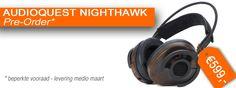 PRE-ORDER Vanaf maart is ie eindelijk verkrijgbaar: de AudioQuest NightHawk hoofdtelefoon. En je kunt hem nu al bestellen bij Hifigasten! Beats Headphones, Over Ear Headphones, Headset, Headphones, Headpieces, In Ear Headphones, Hockey Helmet