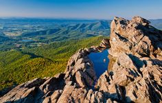 Evening view from Little Stony Man Cliffs, Shenandoah National Park, Virginia. - Nature Fine Art Print or Gallery Wrap Canvas on Etsy, $5.00