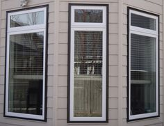 Vinyl White Windows Interior And Exterior Commercial Brown Cladding Trim