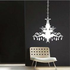 Chandelier. Peel and stick wall decals.