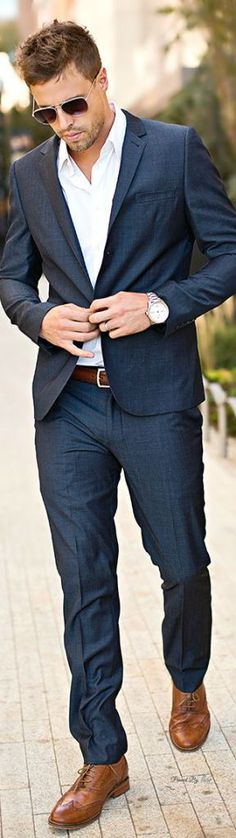 Men's Formal Wear for Holiday Party Navy Blue Tuxedos for Men Groomsmen Suit 2015 … - Men's Fashion Guide Mode Masculine, Sharp Dressed Man, Well Dressed Men, Navy Blue Tuxedos, Navy Suits, Men's Suits, Navy Blue Casual Suit, Navy And White Suit, Black Tie