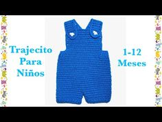 Easy baby boy overalls / shortalls / romper / shortie for months by Crochet. Easy baby boy overalls / shortalls / romper / shortie for months by Crochet for Baby Eas Baby Shorts, Baby Boy Overalls, Baby Boy Romper, Baby Pants, Crochet Toddler, Crochet For Boys, Newborn Crochet, Free Crochet, Crochet Romper