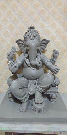 Shri Ganesh Images, Ganesh Chaturthi Images, Ganesha Pictures, Clay Ganesha, Ganesha Art, Clay Wall Art, Clay Art, Eco Friendly Ganesha, Ganesh Rangoli