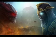 Saradomin vs Zamorak by LegendArts