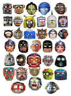All sizes   All Robots Halloween Masks Vintage 9432   Flickr - Photo Sharing!