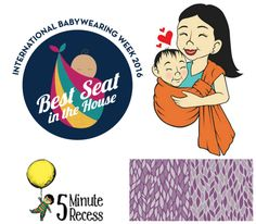 """Mamas and dadas! I am so happy to kick off International Babywearing Week with a fantastic giveaway from our friends 5 Minute Recess! This family-owned small business has been serving the babywearing community for years. I've been a fan since I found out they offered """"grab bag"""" style orders! They do a great job showcasing …"""