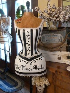 Vintage Inspired Dress Form Mannequin Business by StarviewSonnet
