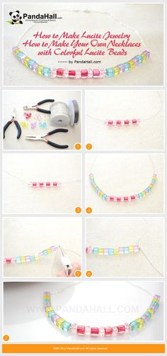 How to Make Lucite Jewelry - How to Make Your Own Necklaces with Colorful Lucite Beads from pandahall.com