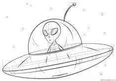 alien spaceship draw drawing step drawings space tutorials easy ship supercoloring transport vehicles cartoon sketches tattoo xenomorph coloring