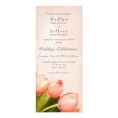 Shop Blush pink slender tulips wedding invitation created by katz_d_zynes. Personalize it with photos & text or purchase as is! Tulip Wedding, Spring Wedding, Wedding Flowers, Blush Wedding Invitations, Pink Tulips, Pink Gifts, Blush Pink, Diy, Floral Flowers