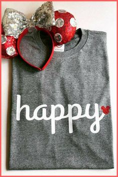 Happy Mickey Shirt | Disney Shirt | Disneyland | Walt Disney World #Ad