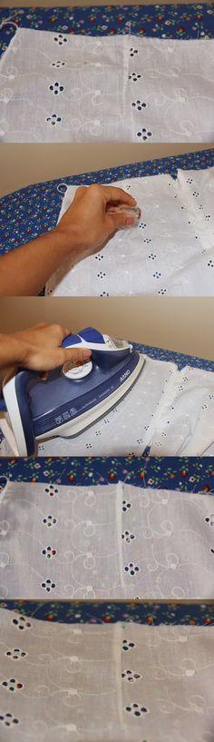 dica de como disfarçar os furinhos da costura desfeita