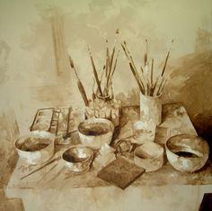 La mesa del pintor II. Nono García