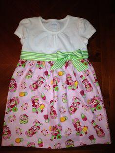 Strawberry Shortcake Dress on Etsy, $30.00