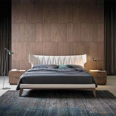 Luxury Modern Winged Quilted Bed