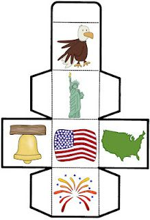 Patriotic FREEBIE! Great for math lesson or math game, center activity, and more! Celebrate the USA with this fun cube game during the fourth of July, Labor Day, Veteran's Day, Memorial Day, or President's Day! Great activity during your America, USA, Patriotic Symbols, or Red, White, & Blue themes!